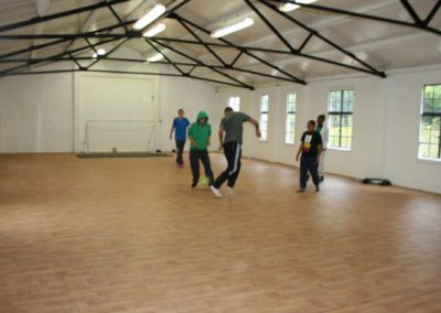 Football in sports hall