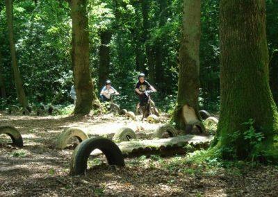 Riding the BMX track